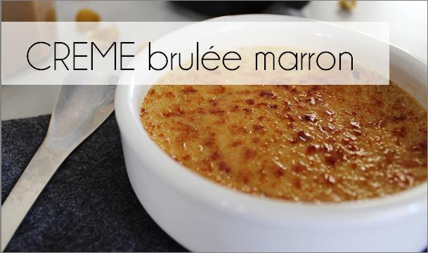Crème brûlée crème de marron (-53% de calories)