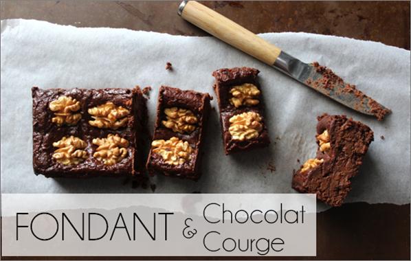 Fondant chocolat / courge (-61% de calories)
