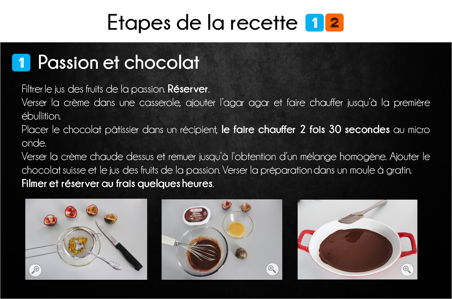 etapes truffe chocolat passion