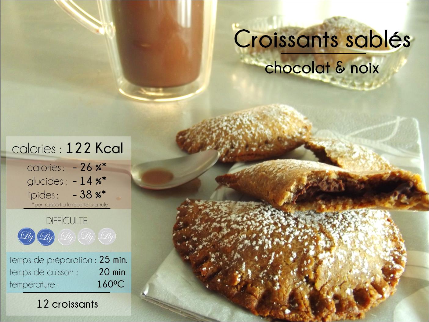 croissants chocolat noix