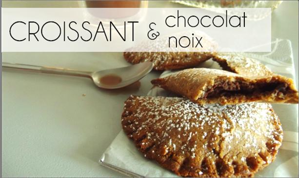 Croissant sablée chocolat / noix (-26% de calories)