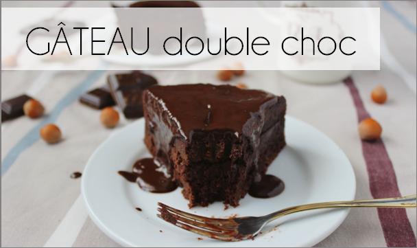 Gâteau double choc (-42% de calories)