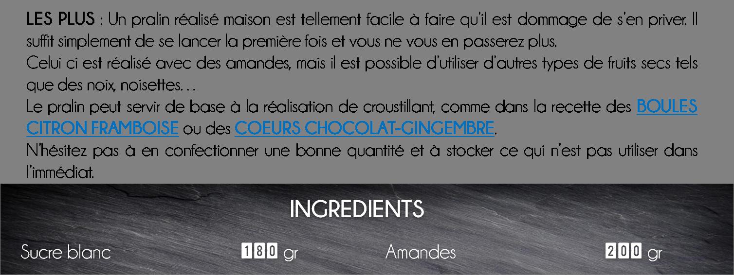 ingredients pralin