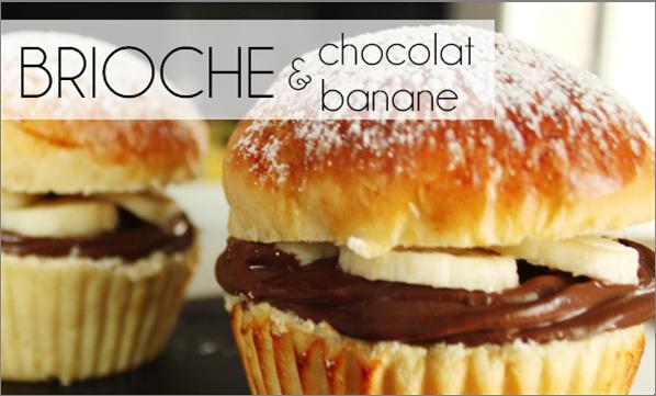 Brioche chocolat / banane à la façon tropézienne (-29% de calories)