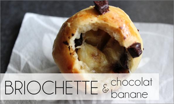Briochette banane / pépites de chocolat (-21% de calories)