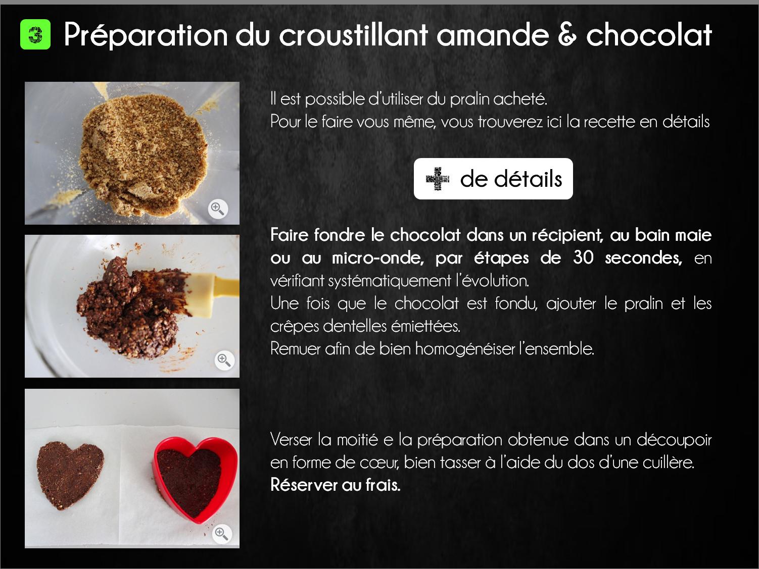 etapes coeur chocolat gingembre