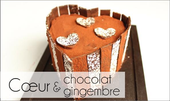 Cœur chocolat / gingembre