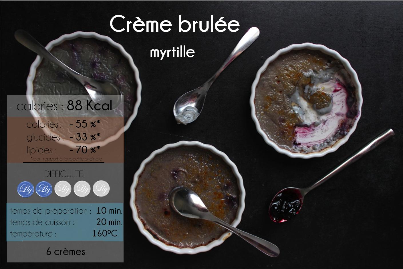 crème brulée myrtille