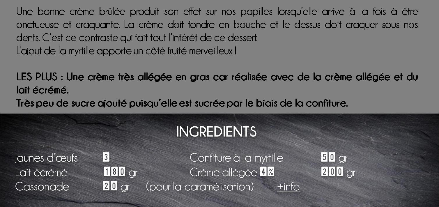 ingredients crème brulée myrtille