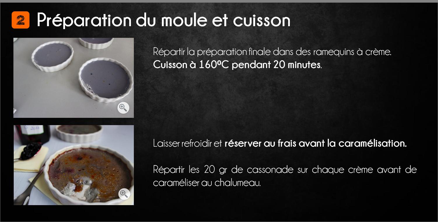 etapes crème brulée myrtille