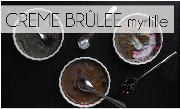 Crème brûlée myrtille (-55% de calories)