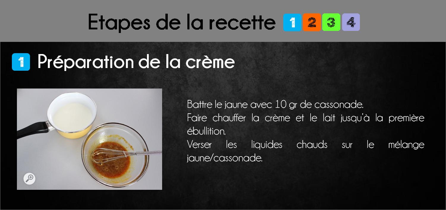 etapes crème brulée pommes
