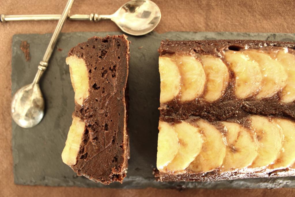Fondant au chocolat, à la banane et à l'avocat