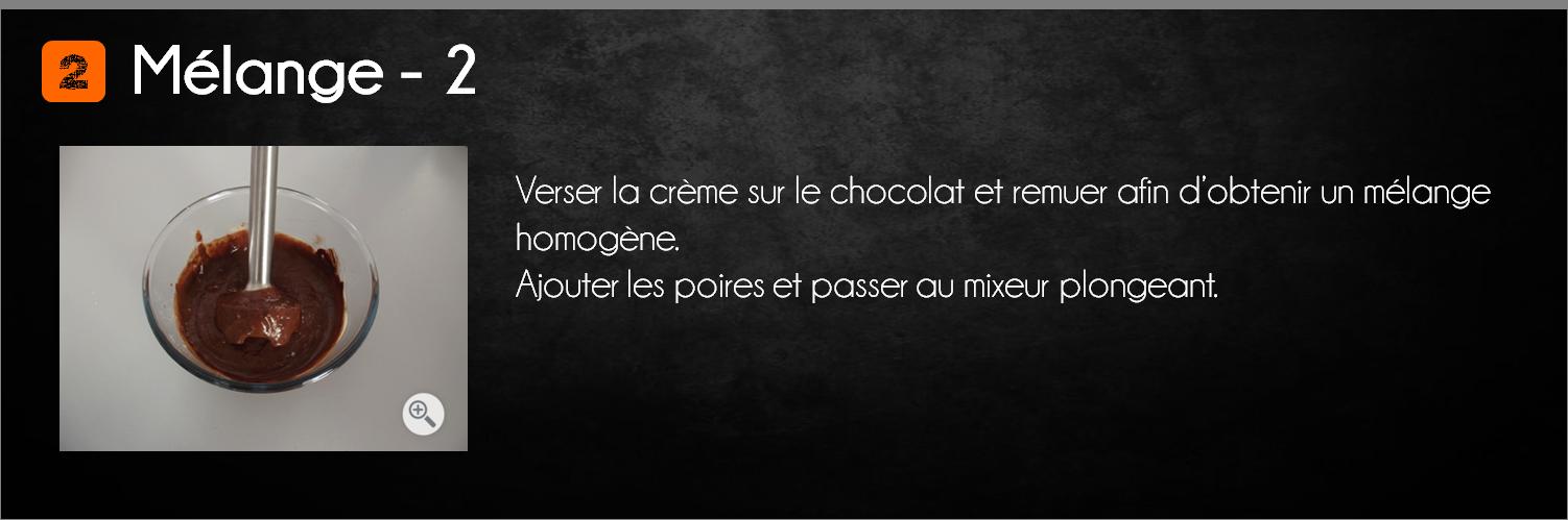 etapes mousse chocolat poire