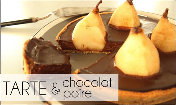 Tarte chocolat / poire (-42% de calories)