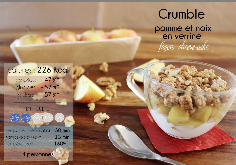 crumble pomme noix en verrine facon cheesecake