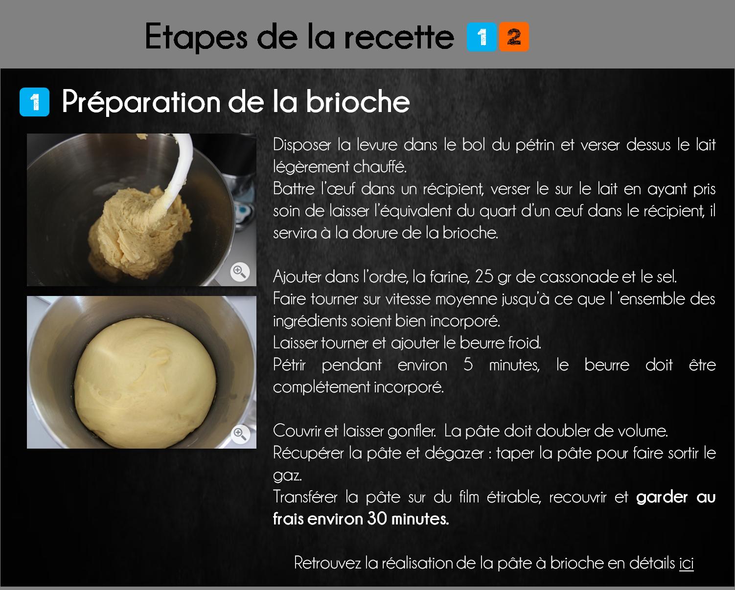 etapes brioche coco