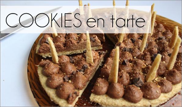 Cookies en tarte chocolat / praliné (-30% de calories)