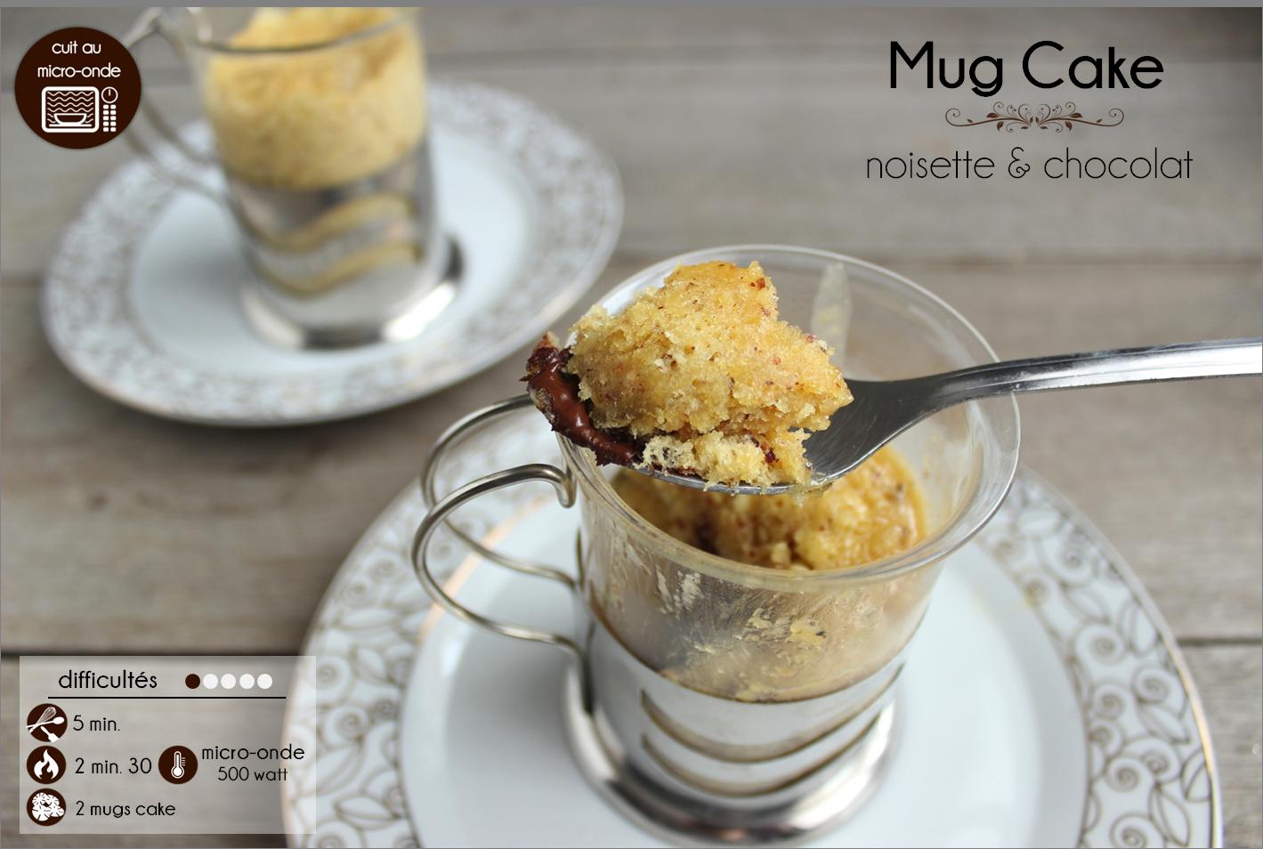 mug cake noisette chocolat