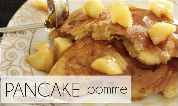 Pancakes à la pomme (-43% de calories)