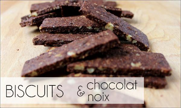 Biscuits chocolat / noix (-25% de calories)