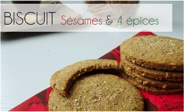 Biscuits Sésame / 4 épices (-38% de calories)