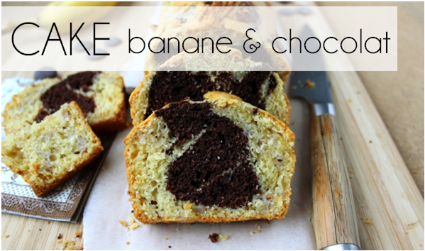 Cake banane / chocolat (-40% de calories)