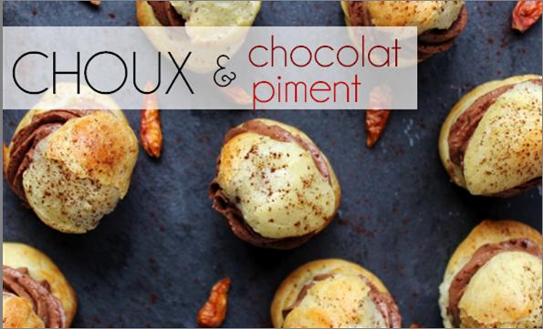 Choux chocolat / piment (-40% de calories)