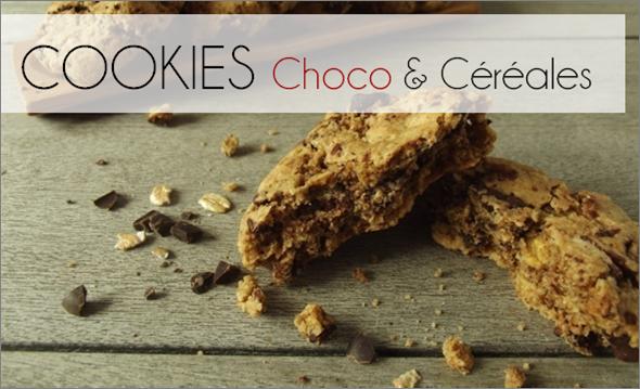 Cookies Choco / Céréales (-36% de calories)