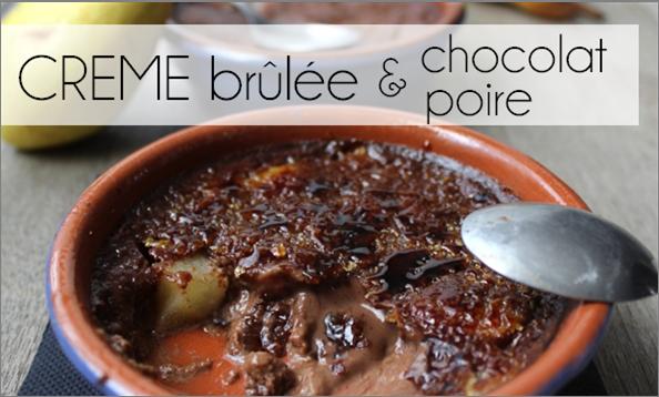 Crème brûlée chocolat / poire (-46% de calories)