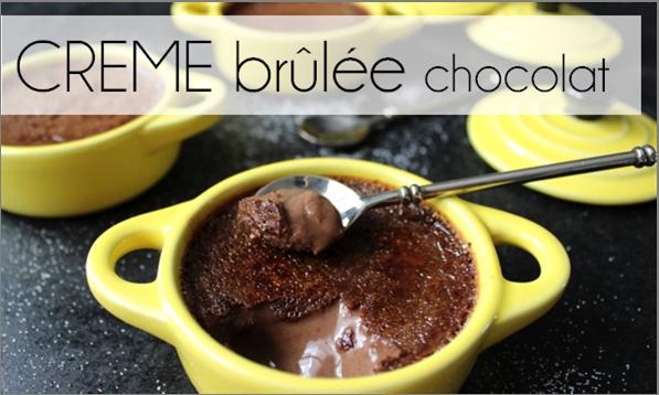 Crème brûlée au chocolat (-46% de calories)