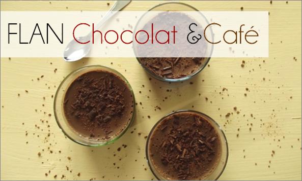 Flan Chocolat / Café (-35% de calories)