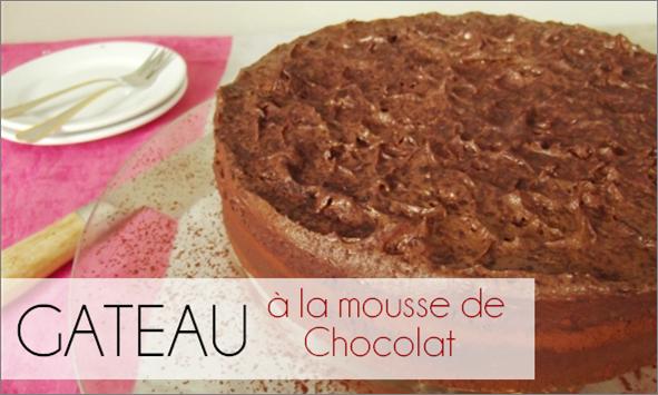 Gâteau à la mousse au Chocolat (-37% de calories)