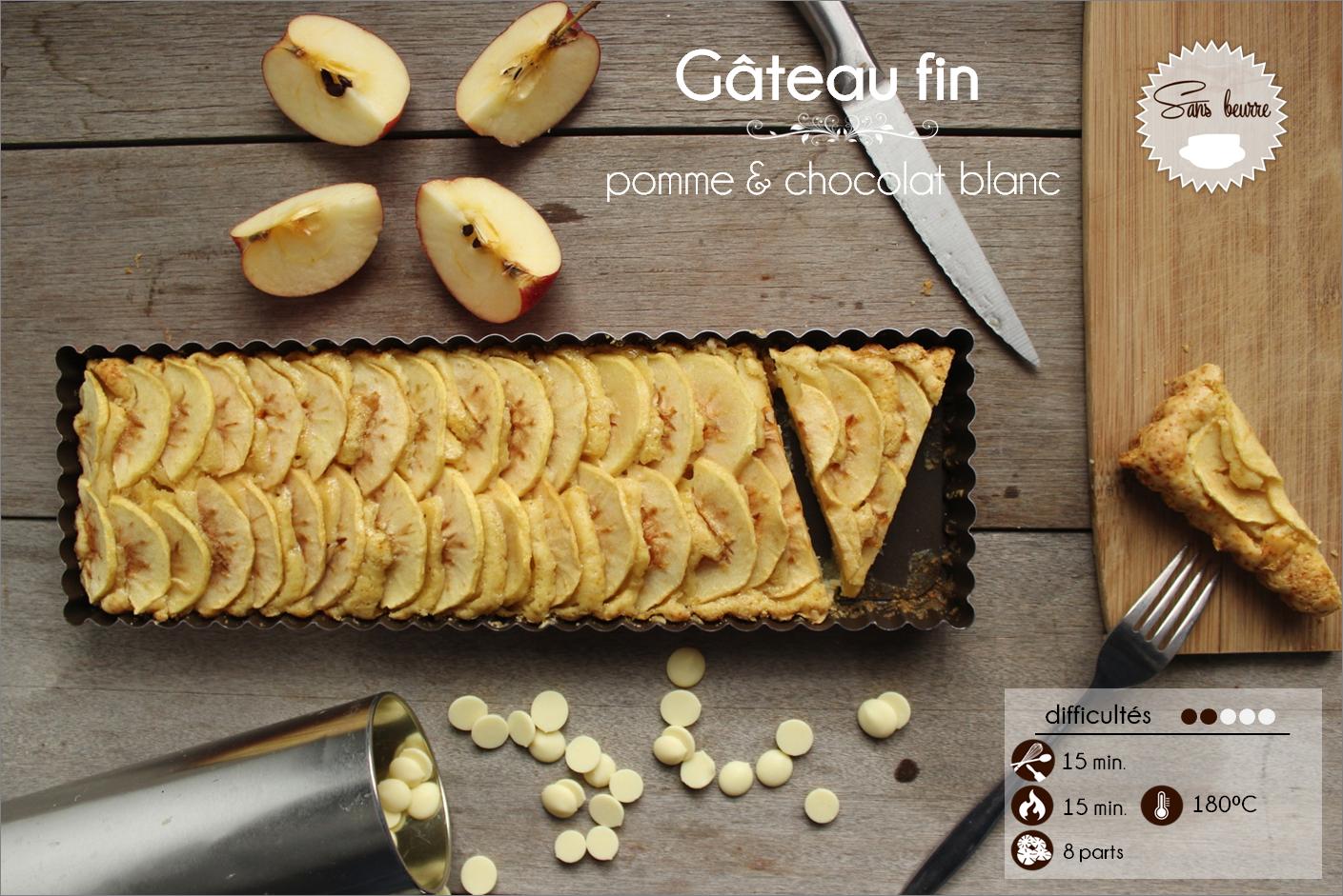 gateau pomme chocolat blanc