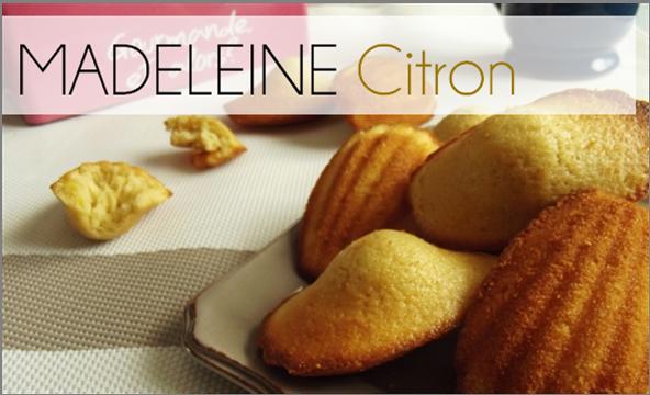 Madeleine Citron (-49% de calories)