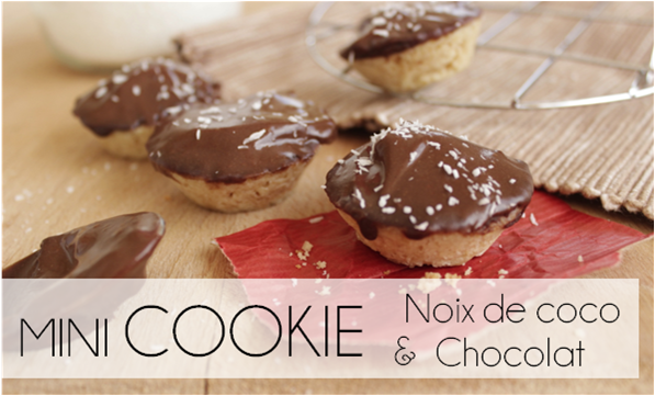 Mini Cookies chocolat / noix de coco (-28% de calories)