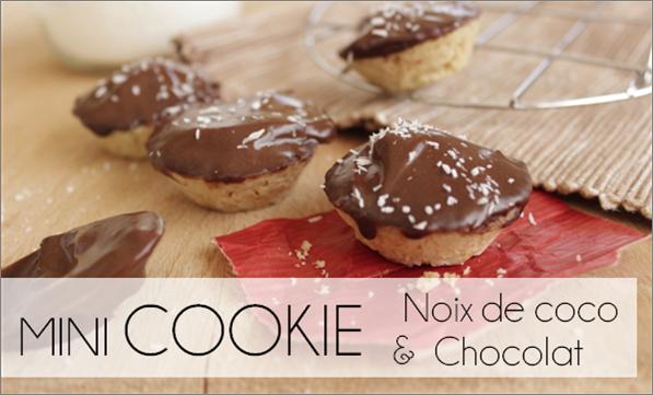 Mini Cookies chocolat / noix de coco (-28% de calories)