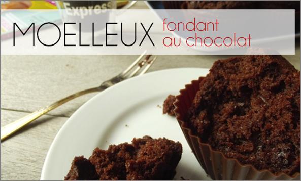 Moelleux fondant Chocolat (-40% de calories)