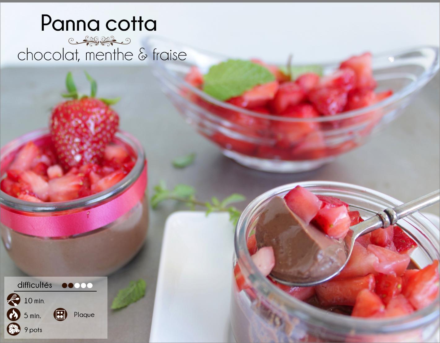 panna cotta chocolat menthe fraise