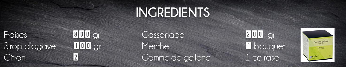 ingrédients confiture fraise