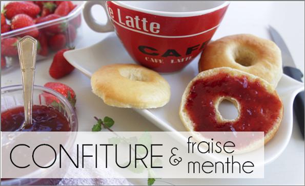 Confiture fraise / menthe (-43% de calories)