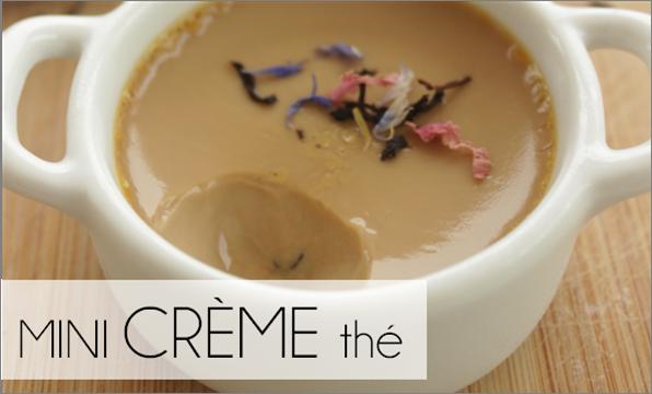 """Mini crème au thé """"coquelicot gourmand"""" (-59% de calories)"""