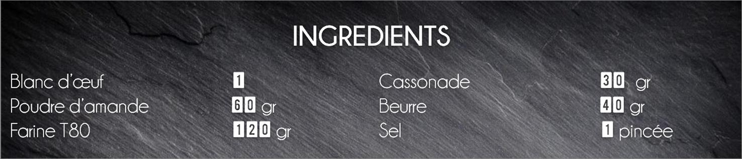 ingrédients pate sablée beurre