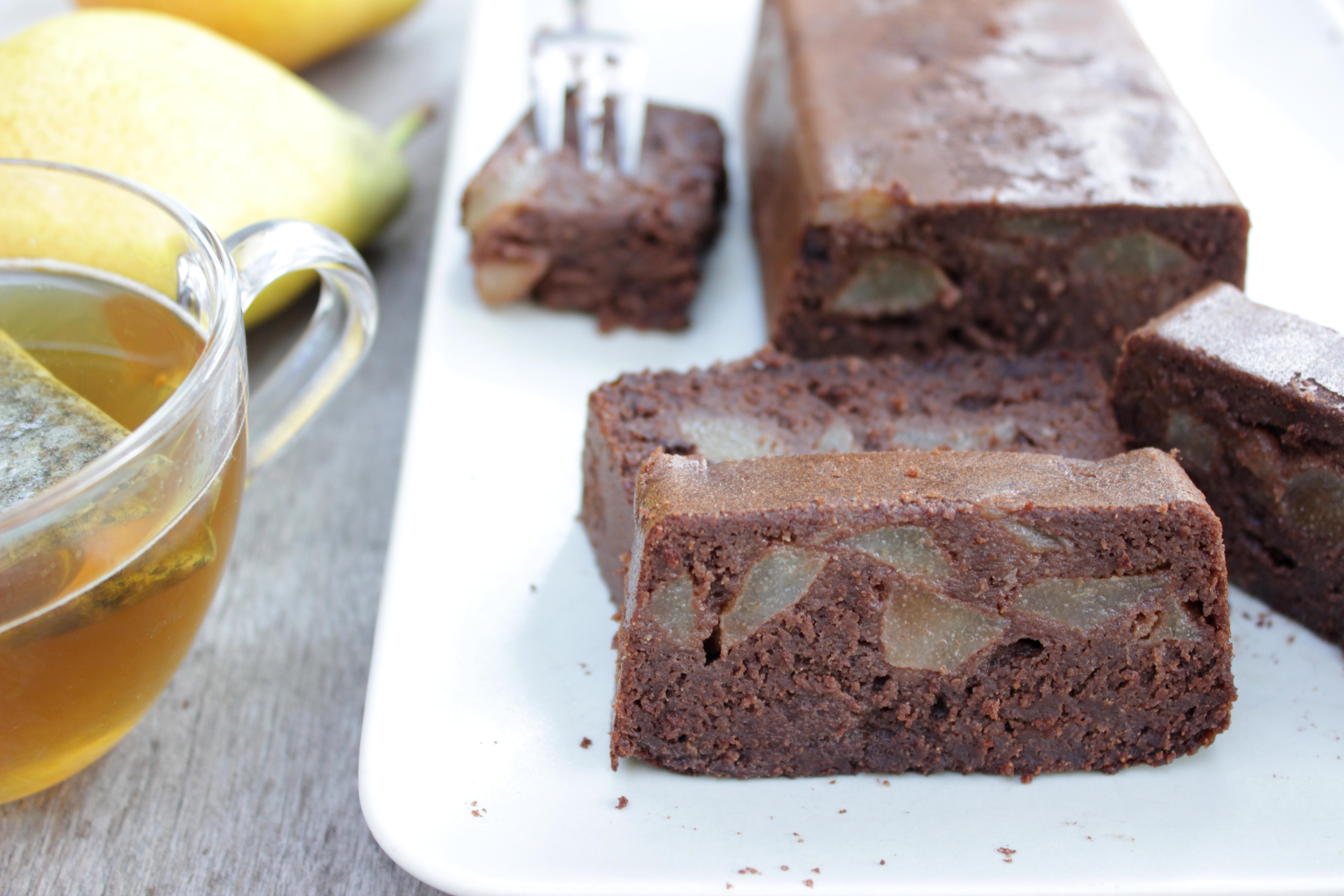 Fondant chocolat / poire – sans gluten