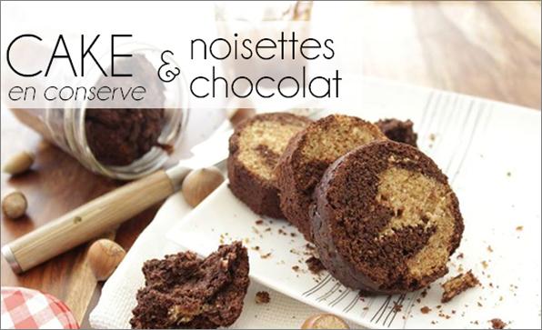 Cake chocolat / noisette - en conserve