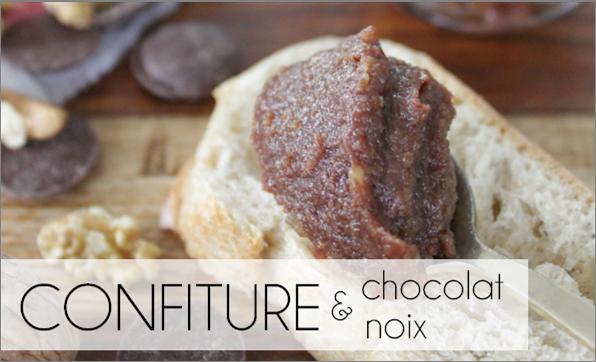 Confiture chocolat / noix