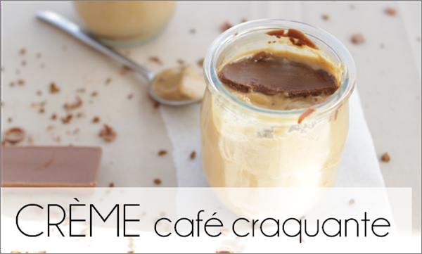 Crème craquante chocolat au lait-café, cuite à la vapeur