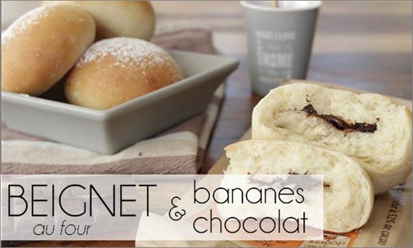 Beignet chocolat / bananes - au four