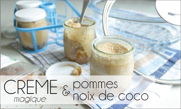Crème magique pomme / noix de coco