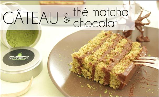Gâteau chocolat au thé matcha